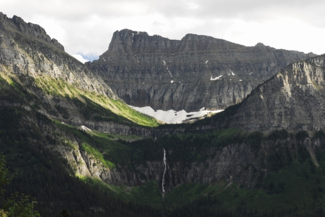 hanging valley in Glacier Park Montana