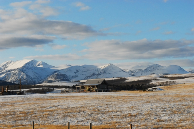 ranch in the high prairie on the east face of the Rockies in Montana